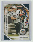 WES WELKER Patriots SIGNED 2010 Gridiron Gear Football 89 Autograph ON CARD AUTO