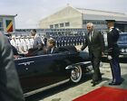 President John F. Kennedy sits in convertible Lincoln limousine New 8x10 Photo