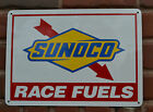 Sunoco Racing Fuel Gas Service Station PUMP SIGN Mechanic shop Advertising 10day