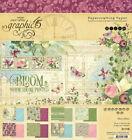 Graphic45 BLOOM 8x8 PAPER PAD scrapbooking 24 SHEETS 8 DESIGNS