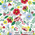 1041 TWO Individual Paper Luncheon Decoupage Napkins STITCHED FLOWERS FLORAL