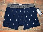 MENS POLO RALPH LAUREN ALL OVER PONY BLUE BOXER BRIEF SIZE S