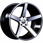 20x85 Black Machined JNC JNC026 Wheels 5x120 +35 Fits Acura RLX ZDX MDX