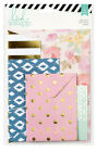 Heidi Swapp WANDERLUST 4pk ASSORTED ENVELOPES scrapbooking GOLD FOIL 369307