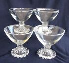 BOOPIE Footed Sherbets, Clear Glass, Set of 4, Vintage Anchor Hocking