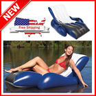 Inflatable Lounge Swimming Pool Float Raft Adults Lounger Beach Water Rafts Toy