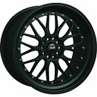 XXR 521 17x7 4x100 4x1143 4x45 +38mm Flat Black Wheels Rims 52177082