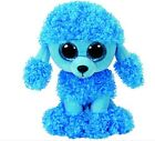 Ty beanie babies 'Mandy' poodle blue new with tags 6 inches high collection read