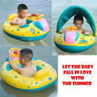 Swimming Ring Inflatable Baby Float Sunshade Swimming Boat Seat Sun Canopy