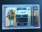 # 25 Cam Newton BGS 9.5 GEM 2011 Topps Finest Gold Refractor Auto Patch RC