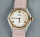 Ebel 1911 Women's Stainless Steel 18K Yellow Gold Mother of Pearl Watch 1090211