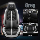 Us Universal Pu Leather Car Seat Cover 5 Seat Suv Cushions Front Rear Full Set