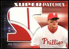 2004 Jim Thome Upper Deck Super Patches Numbers Jersey Patch Phillies SP 25