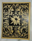 Rare Large Outlines Daisy Flourish Background Rubber Stamp Scroll Floral Fancy