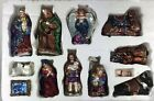 Nativity Blown Glass Set Of 12 Pieces Holiday Decor