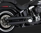 VANCE  HINES Twin Slash 3 Exhaust Black 07 17 Softail