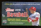 2019 Topps Heritage Baseball Factory Sealed Hobby Box - 24 Packs Real One Autos