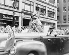 GENERAL DWIGHT D. EISENHOWER IN WWII PARADE 8x10 SILVER HALIDE PHOTO PRINT