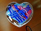 Large 1994 Signed S R 94 Michael Schmidt Sonia Rhea CANE HEART Paperweight