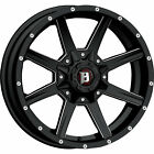 20x9 Black Ballistic Razorback 956 Wheels 5x55 5x150 +25 Fits CHRYSLER ASPEN