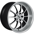 19x85 Machined Black NS TEN Wheels 5x45 +35 Fits Infiniti FX37 QX50 G35