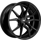 22x105 Black XO Verona Wheels 5x115 +25 Lifted Fits Suzuki XL 7