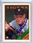 Sparky Anderson 1988 Topps Card Auto Autograph Tigers
