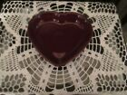 Fiesta Ware CLARET Burgundy  Medium Heart Bowl Candy Dish 7.5 inch  NEW