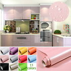 Wall Sticker Paper Kitchen Cabinet Refacing Film Self Adhesive Wallpaper 10Color