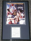 Rick Barry Signed Framed 11x17 Photo Display JSA w Happy Hooping Inscription