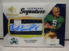 2013 Upper Deck SP Threads Legendary Signature Paul Hornung Patch Auto #2 3