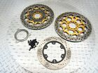 2006 03-06 DUCATI ST3 OEM FRONT REAR BRAKE ROTORS ABS DISC STRAIGHT SET