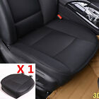 1Pc Universal Car PU Leather Front Seat Cover Protector Black Seat Cushion Cover