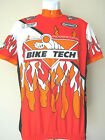 Fiery Vintage VERGE BIKE TECH CYCLING JERSEY Orange Red 3 POCKET Fits Small