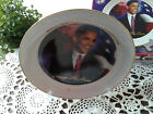 Barack Obama Collectible Plate/Stand & Certificate  Gold Rim