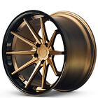 4pcs 20x10 20x115 Ferrada Wheels FR4 Matte Bronze with Gloss Black Lip FH