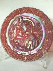 Fenton 1979 Ruby Red Mothers Day Plate Signed Don Fenton 3657 5000 With Sticker