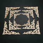 Stylish Wood Carved Floral Decal Onlay Applique Furniture Wall Door Decoration