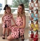 Family Matching  MOM AND ME Suit T-shirts Outfits Fashionable Summerwear 4Colors