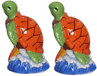 Sea Turtle Ceramic Salt and Papper Spice Shaker Set Beach House Tablewear