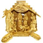 Olive Wood Silent Night Nativity Standard  11 x 9 Inches