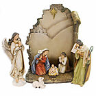 Christmas NATIVITY WITH BACK WALL Polyresin Josephs Studio 66088