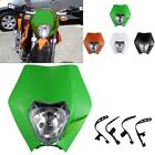 Green Dirtbike LED Headlight Fairing For Suzuki DR 125 200 250 350 650 S E SE