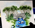 Stone BRIDGE U get photo2 RETIRED LKexamples Art Impressions Rubber Stamps