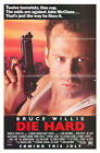 Die Hard 1988 original movie poster advance single sided folded