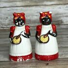 Vintage Black Americana Mammy Cooking Salt and Pepper Shakers