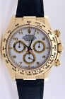 Rolex Daytona Yellow Gold White Arabic Black Leather Strap 116518 WATCH CHEST
