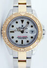 Rolex Lady Yachtmaster Yellow Gold & Steel White Dial 69623 29mm - WATCH CHEST