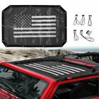 Sunshade UV Protection Mesh Soft Top Cover for Jeep Wrangler JK 2007 2018 2 Door