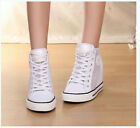 Womens Fashion High Wedge Heels Mesh Lace Up Sneakers Girls Hollow Out Shoes Hot